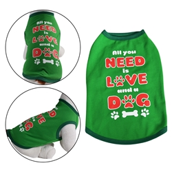 All You Need Dog Shirt Green
