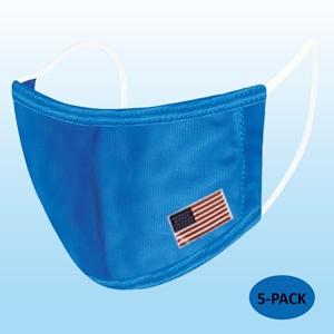Blue Protective Reusable Face Mask 2 Layers Cloth Mask with Flag