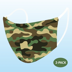 Camo Protective Reusable Face Mask 2 Layers Cloth Mask (Pack of 2)