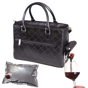 Drink Purse Black Quilted