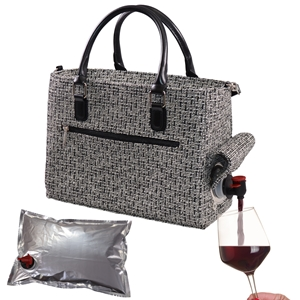 Drink Purse Black Tweed