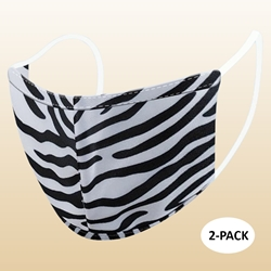 Kids Zebra Protective Reusable Face Mask 2 Layers Cloth Mask (Pack of 2)