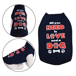 All You Need Dog Shirt Navy Blue