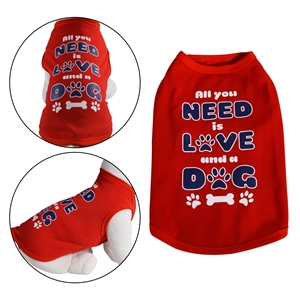 All You Need Dog Shirt Red