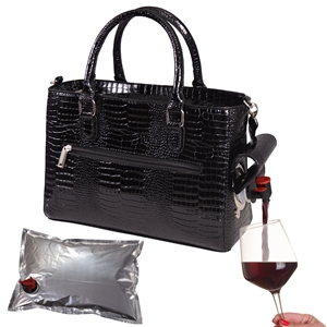 Drink Purse Black Croc