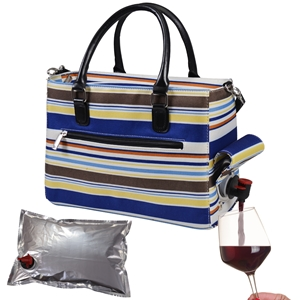 Drink Purse Blue Nautical Stripe