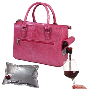 Drink Purse Pink Reptilian
