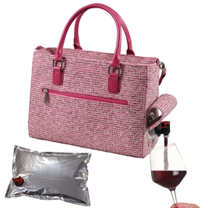 Drink Purse Pink Tweed