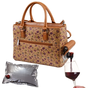 Drink Purse Purple Flower Cork