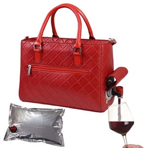 Drink Purse Red Quilted