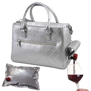 Drink Purse Silver Quilted