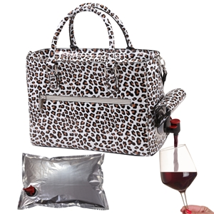 Drink Purse White Cheetah