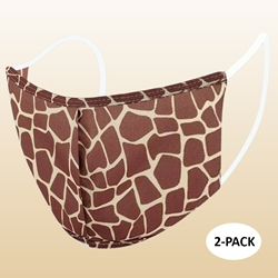 Kids Giraffe Protective Reusable Face Mask 2 Layers Cloth Mask (Pack of 2)