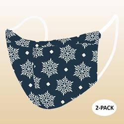 Kids Snow Flake Protective Reusable Face Mask 2 Layers Cloth Mask (Pack of 2)